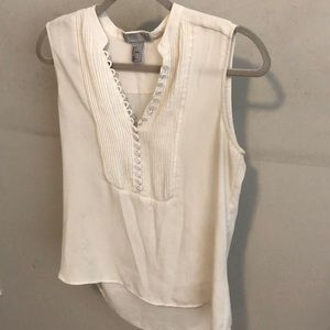 H & M white work blouse